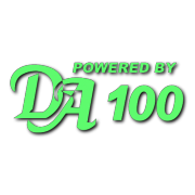 Powered by DA 100 Decal