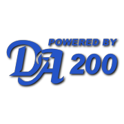 Powered By DA 200 Decal