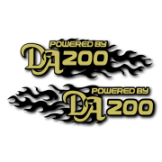 Powered by DA Flame LR 200 Decal