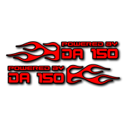 Powered by DA Flame LR 150 V2 Decal