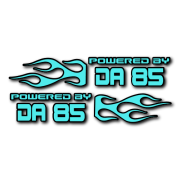 Powered by DA Flame LR 85 V2 Decal