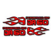 Powered by DA Flame LR 60 V2 Decal