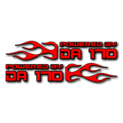 Powered by DA Flame LR 170 V2 Decal