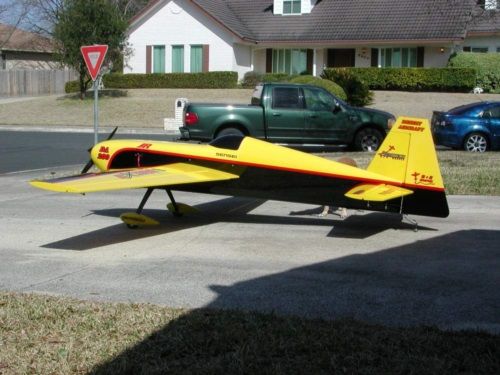 Aerotech 55% Extra 260 hyperlite kit built by Bob Sawyer