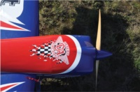 Desert aircraft decal with checker flames