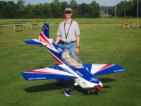 Daniel Holman with his Extreme Flight Extra 300