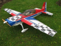 "Extreme Flight 88"" Extra 300 with printed graphics"