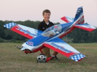 B&E Team pilot Jase Dussia with his Extreme Flight Edge 540T