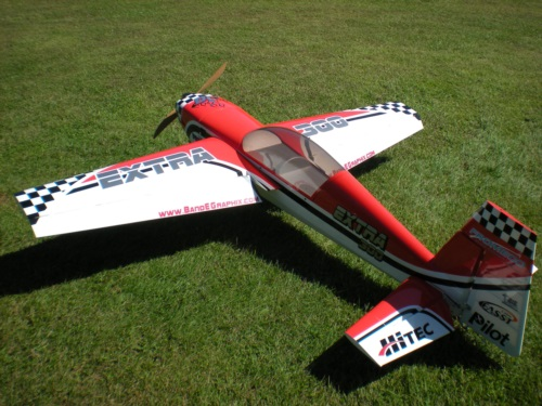 This is a nice 50cc Pilot Extra 300 with one of our basic graphic packages.