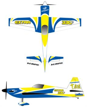 3DHS Extra 330sc yellow-blue 2 Graphic Package
