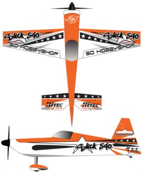 3DHobbyShop AJ Slick - Orange1 Graphic Package