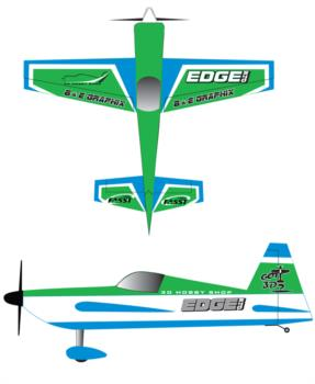 3D Hobby Shop Edge540 - Green Graphic Package