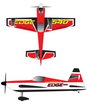 3D Hobby Shop Edge 540 - red Graphic Package