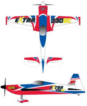 3D Hobby Shop Extra 330 red/blue Graphic Package