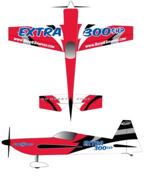 3D Hobby Shop Extra 300SR Graphic Package