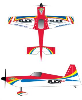 3D Hobby Shop AJSlick 540 - red2 Graphic Package