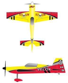 3D Hobby Shop Velox - yellow Graphic Package