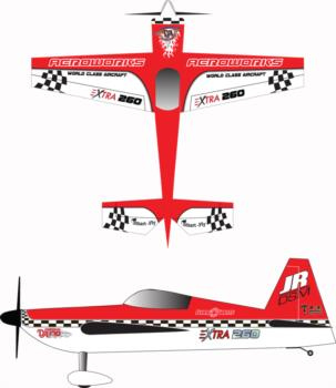 aeroworks extra 260 red white checker