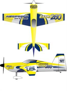 Aeroworks Extra 260 Freestyle V1 Decal Package