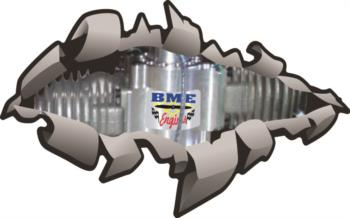 BME Engine rip away graphic rc digital decal