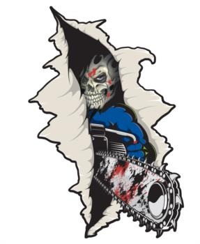 Chainsaw Rip Out rc digital decal
