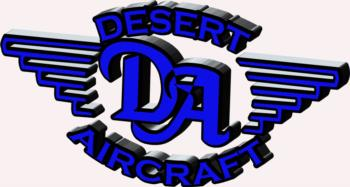3D Desert Aircraft - blue rc digital decal