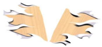 Wood Tear Away rc digital decal