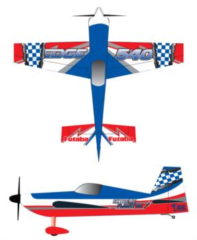 Extreme Flight Edge 540 checker rip Graphic Package