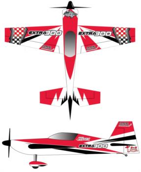 Extreme Flight Extra Checker 1 Graphic Package