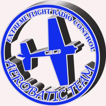 3 Dimensional Extreme Flight round- blue rc digital decal