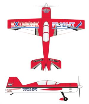 Extreme Flight Yak red-white printed 2 Graphic Package