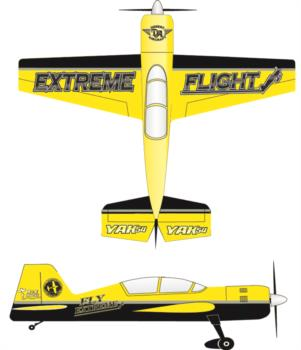 Extreme Flight Yak 54 printed yellow-black 1 Graphic Package