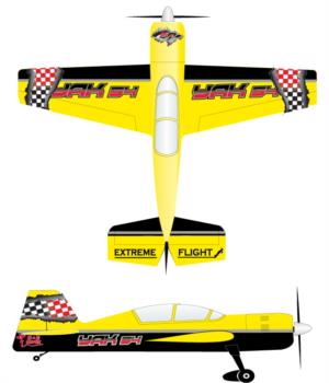 Extreme Flight Yak black checker Graphic Package