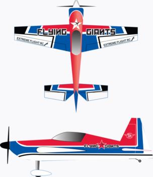 Extreme Flight Extra 300 Graphic Package