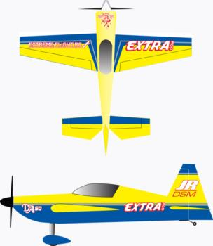 Extreme Flight Extra 300 yellow Graphic Package