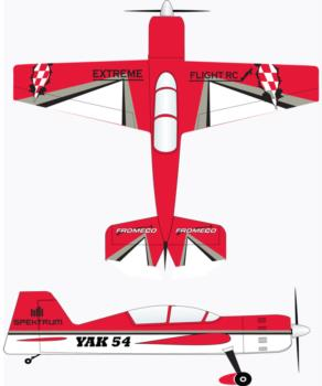 Extreme Flight Yak 54 red/white-2 Graphic Package