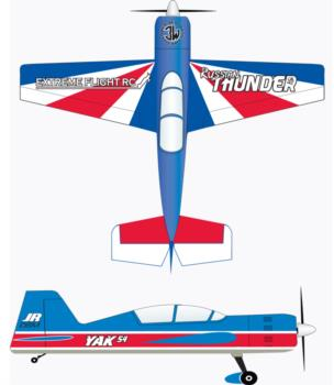Extreme Flight Yak 54 Russian Thunder Graphic Package