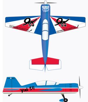 Extreme Flight Yak 54 Russian Thunder scheme-2 Graphic Package