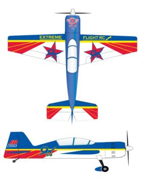 Extreme Flight Yak 54 original scheme Graphic Package