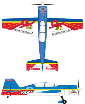Extreme Flight Yak 54 original scheme 2 Graphic Package