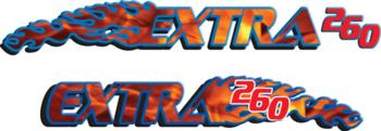 Extra 260 flame  rc digital decal