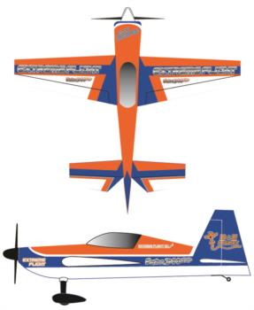 Extreme Flight Extra Printed orange Graphic Package
