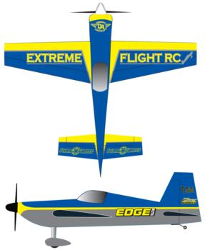 Extreme Flight Edge 540 blue Graphic Package