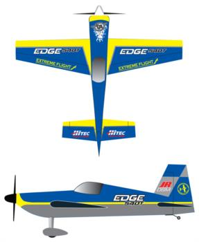 Extreme Flight Edge 540 3 Graphic Package