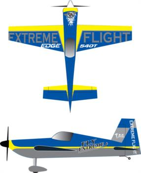 Extreme Flight Edge 540t blue-4 Graphic Package
