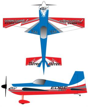 extreme flight edge 540 red blue