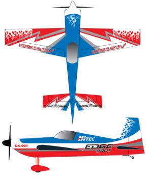 Extreme Flight Edge 540T Red2 Graphic Package