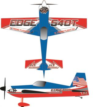 Extreme Flight Edge 540T Printed red-white 1 Graphic Package