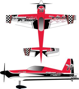 Extreme Flight Extra Checker 2 Graphic Package