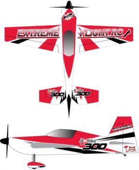 Extreme Flight Extra black-white-red Graphic Package
